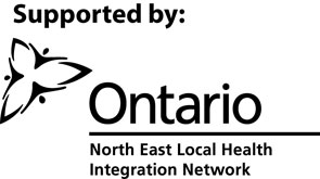 Supported by the Ontario North East Local Health Integration Netowrk
